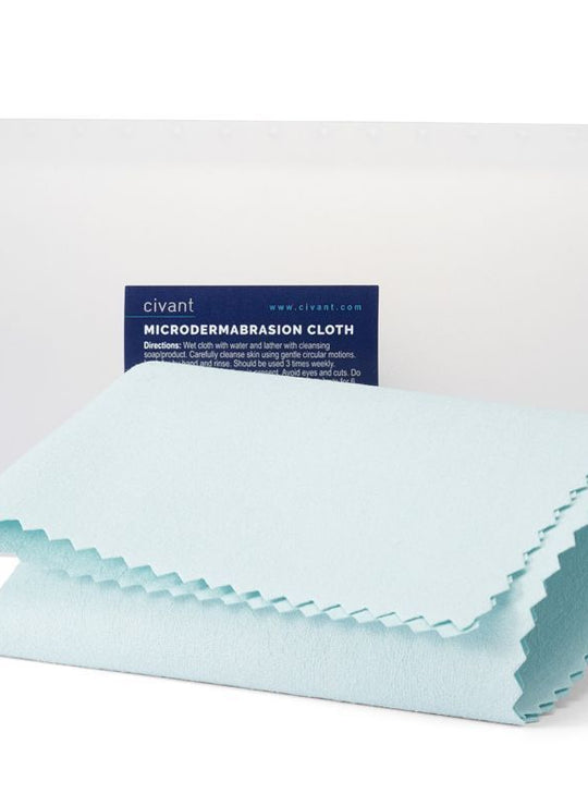 Microdermabrasion cloth