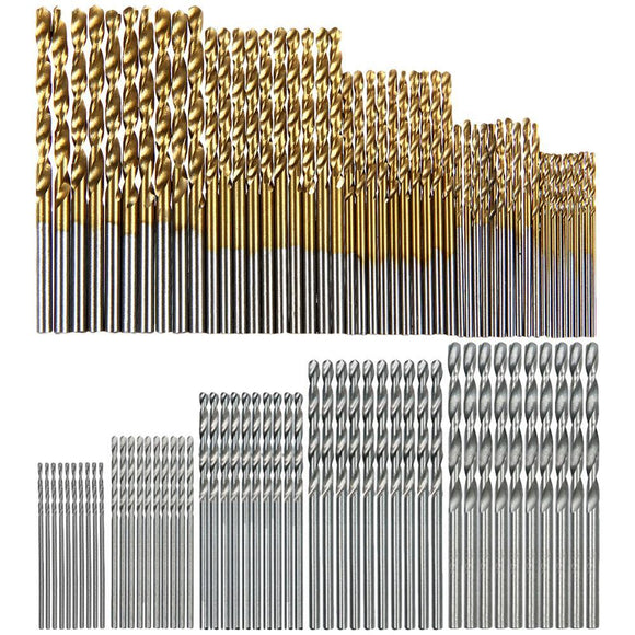 13/50/99/100Pcs HSS High Speed Steel Drill Bit Set - Uncle Buzz