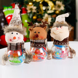 Christmas Santa Claus Snowman Candy Container Jar Box Holiday Decoration Gift