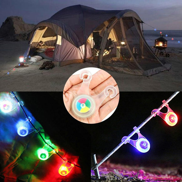 Camping Outdoor Safety Warning Bicycle Tail Light Power Saving Tent Hanging Lamp