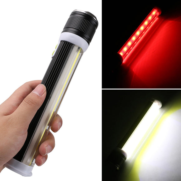 Portable COB T6 Flashlight LED Emergency Outdoor Camping Waterproof Lamp