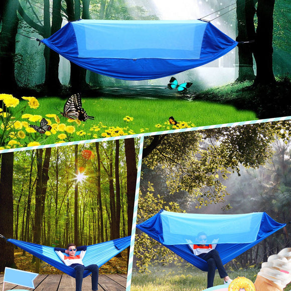 Portable Nylon Parachute Hammock Garden Outdoor Camping Beach Swing Sleeping Bed