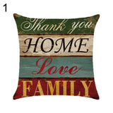 Letter Love Life Pillow Cover Cushion Case Home Car Sofa Bedroom Hotel Decor - 1