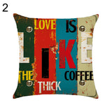 Letter Love Life Pillow Cover Cushion Case Home Car Sofa Bedroom Hotel Decor - 2