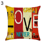 Letter Love Life Pillow Cover Cushion Case Home Car Sofa Bedroom Hotel Decor - 3
