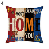 Letter Love Life Pillow Cover Cushion Case Home Car Sofa Bedroom Hotel Decor - 4