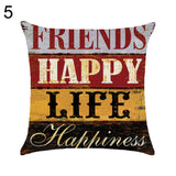 Letter Love Life Pillow Cover Cushion Case Home Car Sofa Bedroom Hotel Decor - 5