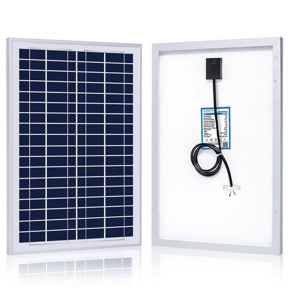 ACOPOWER 25W Poly Solar Panel, 12V