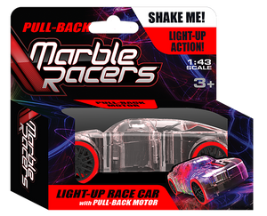 Pull-Back Marble Racer - Red