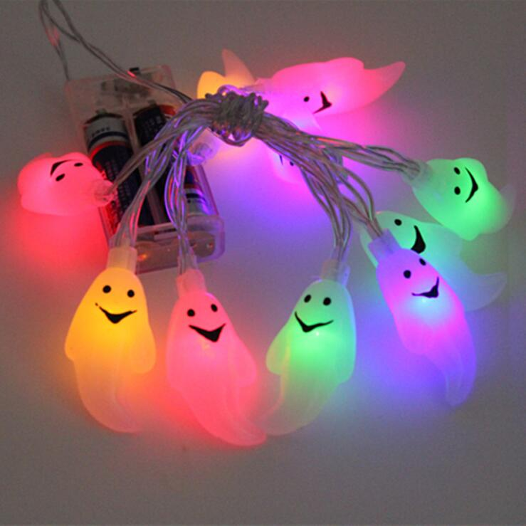 10 LED Hanging Halloween Decor Pumpkins/Ghost/Spider/Skull LED String Lights Lanterns Lamp