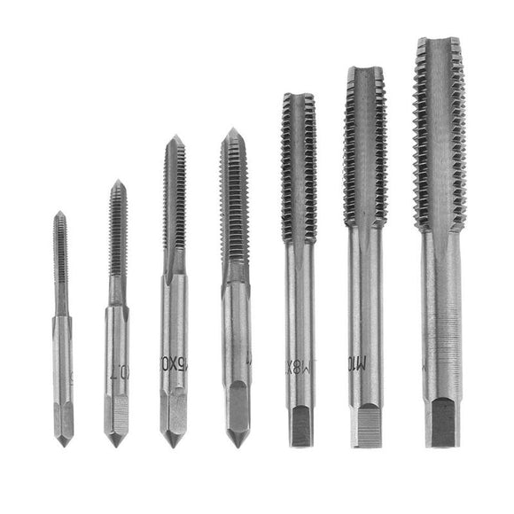 7Pcs M3 M12 HSS Tap Drill Bits Hss Taps Hand Screw