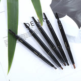 Double Head Eyebrow Pencil Automatic Rotation Pen with Brush Waterproof Makeup