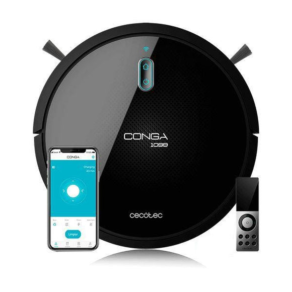 Robot Vacuum Cleaner Cecotec Conga 1099 Connected 1400 Pa 64 dB WiFi Black - Uncle Buzz