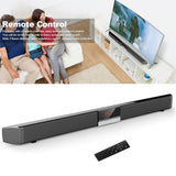 SR100 Plus Bluetooth Soundbar Home TV Speaker Wireless Subwoofer Remote Control Stereo Surround Sound 4*15W Speakers - Uncle Buzz