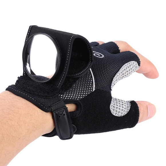 Bicycle Bike Back Mirror Cycling Gloves Wrist Band Strap Reflex Rear View Rearview Arm Wrist Cycling Gloves with Bike Mirrors
