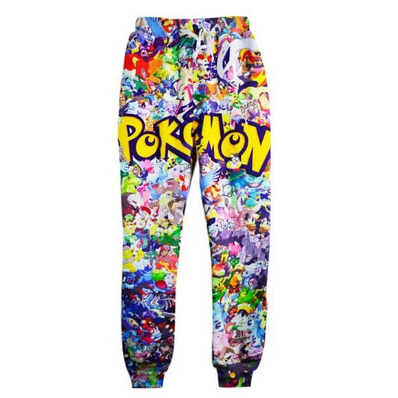 Newest Fashion Joggers Pants 3D Graphic Printed Funny Anime Pokemon Sweatpants for mens/womens Hip Hop style Trousers - Uncle Buzz