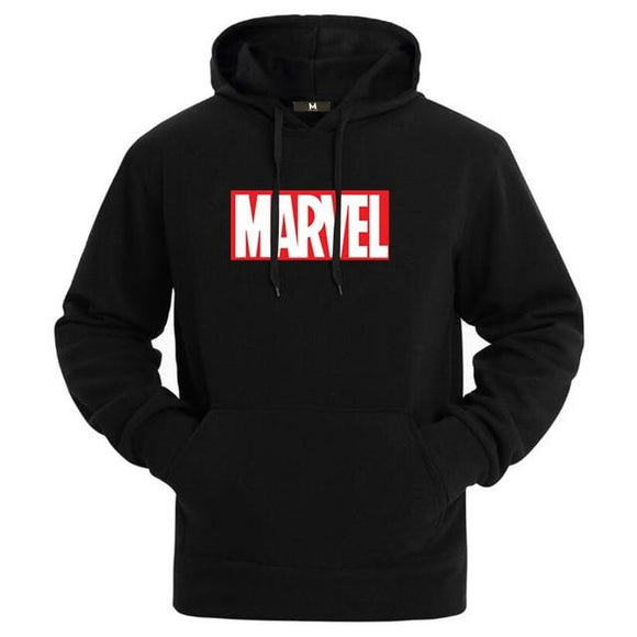 Sweatshirts Men High Quality MARVEL Letter Printing Fashion Mens Hoodies Thickened Men's Hoodie - Uncle Buzz