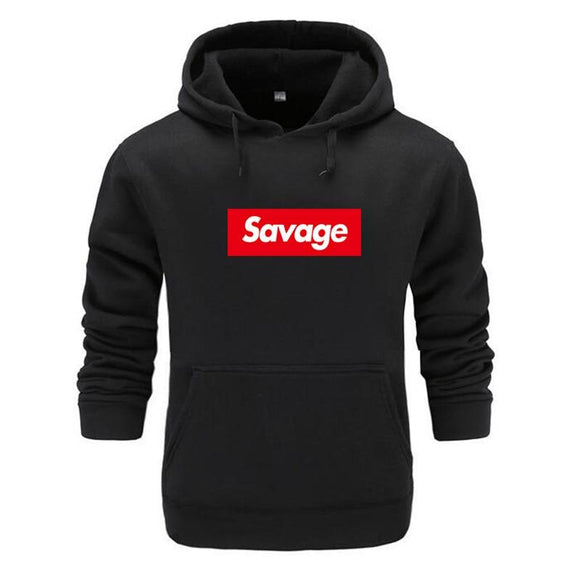 Mens Hoodies Savage Hoodies Parody No Heart X Savage Mode Slaughter Gang ATL Cotton Long Sleeved Hoodies Suprem - Uncle Buzz