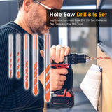 Multi function Hole Saw Drill Bits Set Ceramic