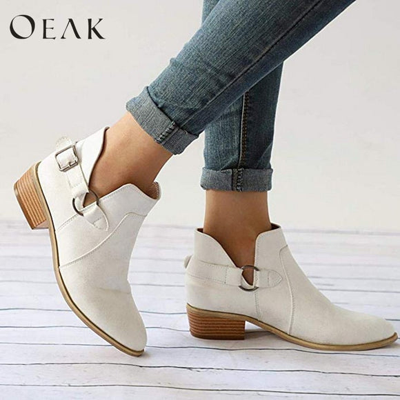 Women Single Boots Ladies Pointed Boots