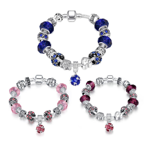 50 Shades of Color Pandora Inspired Bracelet