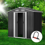 Giantz 1.25 x 1.95m Steel Garden Shed - Grey - Uncle Buzz