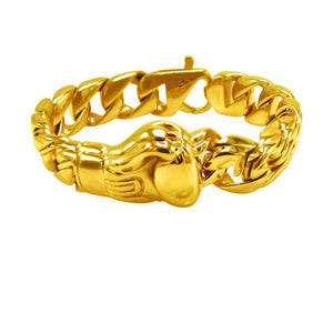 Stainess Steel Glove Bracelet in Gold Color