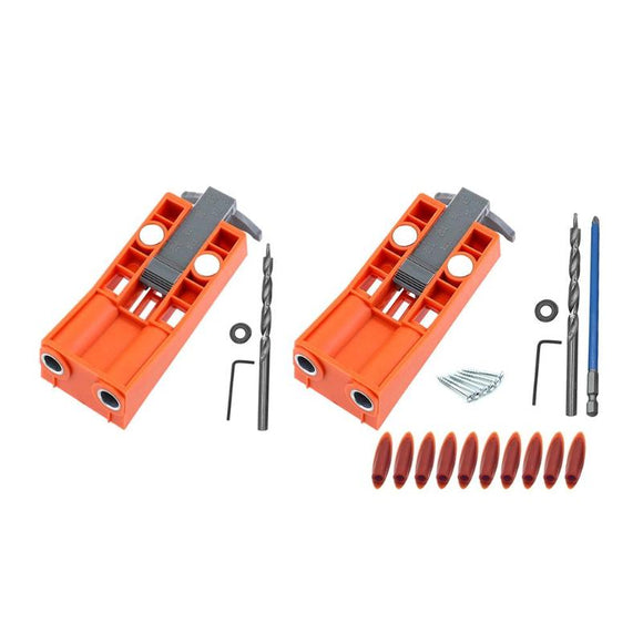 Woodworking Pocket Hole Jig Kit Drill Guide Set