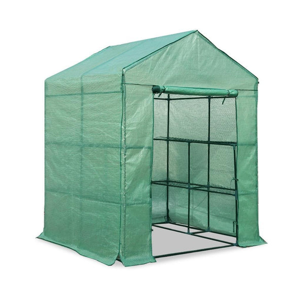 Greenfingers Greenhouse Green House Tunnel 2MX1.55M Garden Shed Storage Plant - Uncle Buzz