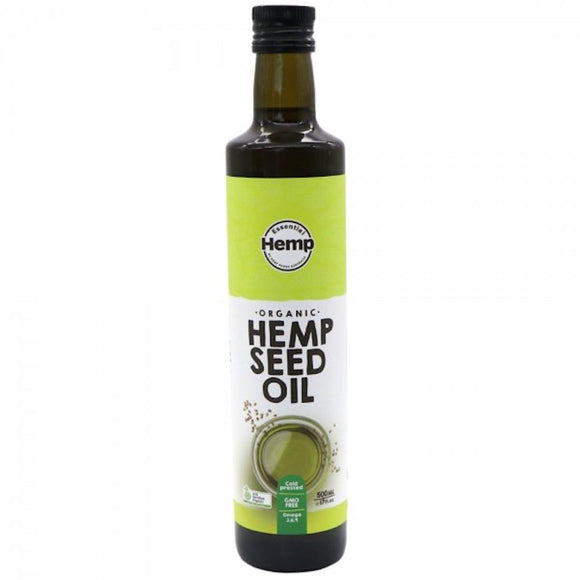 500ml Hemp Seed Oil | Organic Certified Food Grade Healthy Oils Bottle