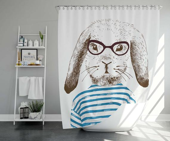 Bathroom Decor Hare Print Bathroom Set Bathroom
