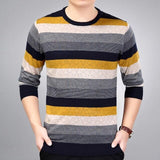 2019 brand social cotton thin men's pullover sweaters casual crocheted striped knitted sweater men masculino jersey clothes 5066 - 3123Yellow / L - 3123Yellow / XXL - 3123Yellow / M - 3123Yellow / XL - 3123Yellow / XXXL