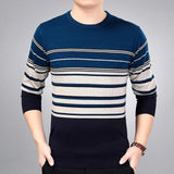 2019 brand social cotton thin men's pullover sweaters casual crocheted striped knitted sweater men masculino jersey clothes 5066 - 3129Navy / L - 3129Navy / XXL - 3129Navy / M - 3129Navy / XL - 3129Navy / XXXL