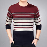 2019 brand social cotton thin men's pullover sweaters casual crocheted striped knitted sweater men masculino jersey clothes 5066 - 3129Wine / L - 3129Wine / XXL - 3129Wine / M - 3129Wine / XL - 3129Wine / XXXL