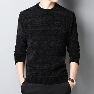 2020 New Thick Velvet Fashion Brand Sweaters Men Pullover Warm Slim Fit Jumpers Knitting Winter Korean Style Casual Men Clothes