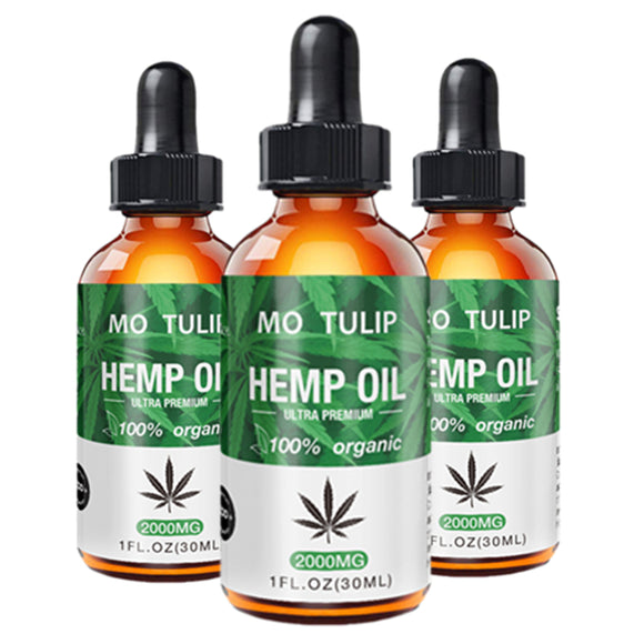 100% Organic Essential Oil 2000MG Hemp Seed Oil Herbal Body Relieve Anxiety Stress Cbd Oil Skin Care Help Sleeping DROP SHIP