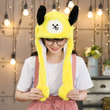 Kocozo Rabbit Hat with Moving Ears Cute Cartoon Toy Hat Airbag Kawaii Funny Toy Cap Kids Plush Toy Birthday Gift  Hat for Girls - SNT1