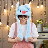 Kocozo Rabbit Hat with Moving Ears Cute Cartoon Toy Hat Airbag Kawaii Funny Toy Cap Kids Plush Toy Birthday Gift  Hat for Girls - SNT7