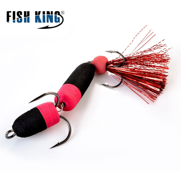 FISH KING Mandula Fishing Lure Soft Lure Foam Bait Swimbait Wobbler Bass Pike Lure Minnow Insect Artificial Baits Fishing Tackle