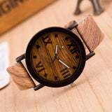 2020 Watches Top Luxury Brand Men Women Watch Roman Numerals Wood PU Leather Band Analog Quartz Vogue Wrist Watches - 01 / Russian Federation - 01 / China
