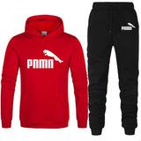 Casual Tracksuit Men 2 Pieces Sets Hooded Sweatshirts Spring Men's Clothes Pullover Hoodies Pants Suit Ropa Hombre Plus Size - Red black-B / L - Red black-B / M - Red black-B / XXL - Red black-B / XL - Red black-B / S - Red black-B / XXXL