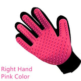 ULTRASOUND PET Dog Hair Brush Glove For Pet Cleaning Massage Grooming Comb Supply Finger Cleaning Pet Cats Hair Brush Glove - pink right hand / one size