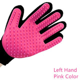 ULTRASOUND PET Dog Hair Brush Glove For Pet Cleaning Massage Grooming Comb Supply Finger Cleaning Pet Cats Hair Brush Glove - pink left hand / one size