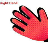 ULTRASOUND PET Dog Hair Brush Glove For Pet Cleaning Massage Grooming Comb Supply Finger Cleaning Pet Cats Hair Brush Glove - red right hand / one size