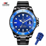 Drop Shipping Tevise Top Brand Men Mechanical Watch Automatic Fashion Luxury Stainless Steel Male Clock Relogio Masculino 2020 - XS7