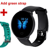 Smart Watch Men 1.3'' Screen Fitness Tracker Ip67 Waterproof Blood Pressure Heart Rate Monitor Smartwatch Woman For Android IOS - Add a green strap / China - Add a green strap / Russian Federation
