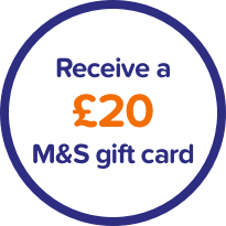 Receive a £20 M&S gift card