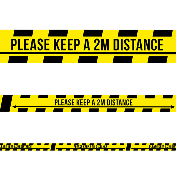 2m Safe Distance Tape 33M Roll