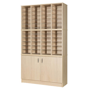 48 Pigeon Hole Storage With Cupboard
