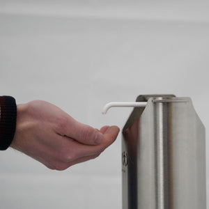 Non-Touch Sanitiser Dispenser 1L Kit - Stainless Steel